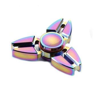 EDC Metal Rainbow Fidget Cube Hand Spinner Toys - intl - 3