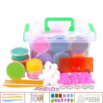 Educational Toy Magic Modeling Clay Non-toxic Ultra-light Multicolour Plasticine Set for Kids - intl