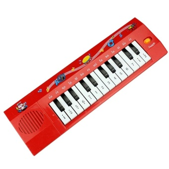 Electronic 24 Keys Kids Digital Piano Keyboard Children EducationalToy (red) - intl