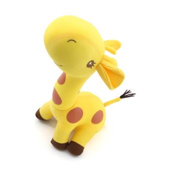 eMylo Giraffe Doll Toy Foam Particles Stuffed Soft Cushion Pillow (Yellow)