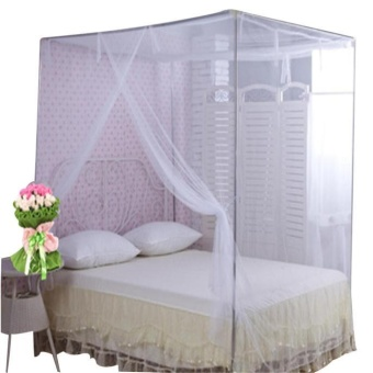 Encryption Nets 1.5 m Bed Student Dormitory Mosquito Nets PartyWhite - intl Price Philippines