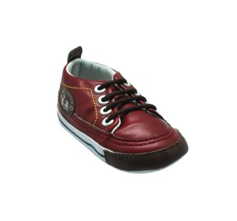 Enfant Baby Red Leather Shoes with lace