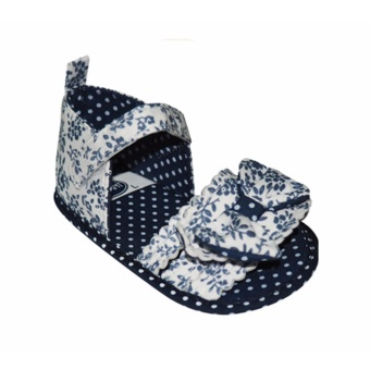 Enfant Baby Sandals with ribbon and polka dots design