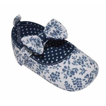 Enfant Baby shoes with Ribbon and Polka Dots Design