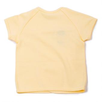 Enfant Shirt Tie Seide Short Sleeves (Yellow) - picture 2