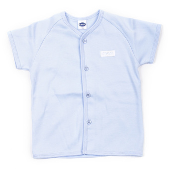 Enfant Shirt With 4 Buttons Down Short Sleeves (Blue)