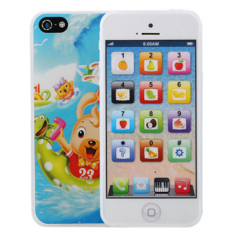 English Learning Mobile Phone Toy For Baby Kids white - intl