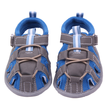 Eozy Baby Prewalker Shoes Cotton Infant Toddler Newborn SandalsFirst Walkers Boys Girls Shoe (Blue) - 2