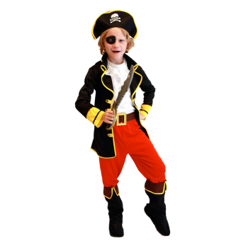 EOZY Children's Halloween Costumes Cosplay Pirates Costumes For Boys Captain Jack Children Role Playing Children Party Clothes (Black) - Intl