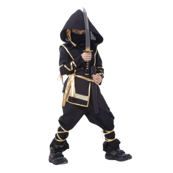 EOZY Classic Halloween Costumes Cosplay Costume Martial Arts Ninja Costumes For Kids Fancy Party Decoration -XL (Black) - Intl - 3