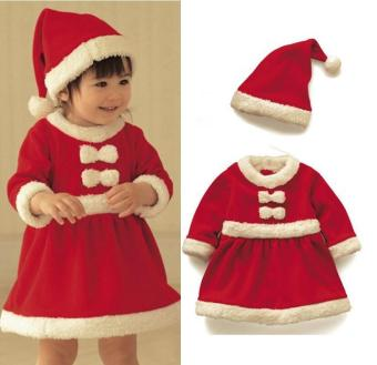 EOZY Girls Christmas Dress Santa Claus Cosplay High End Flannel Long Sleeve Toddler Kids Costume (Red) Price Philippines