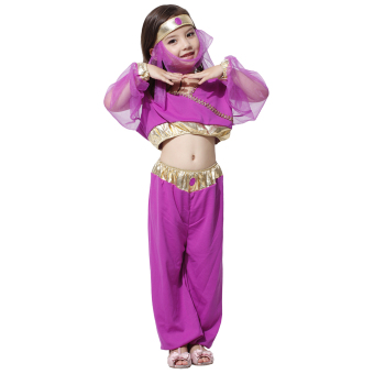 EOZY Halloween Costume Girls Arabian Princess Dresses Kids Dance Dress Stage Performance Suit -M Price Philippines