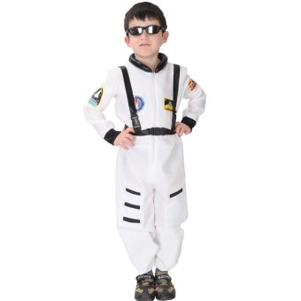 EOZY Kids Astronaut Costume Child Profession Cosplay Outfit Boys Fantasia Halloween Fancy Dress -L (White) Price Philippines