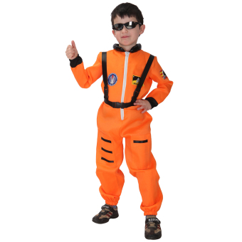 EOZY Kids Astronaut Costume Child Profession Cosplay Outfit Boys Fantasia Halloween Fancy Dress -XL (Orange) Price Philippines