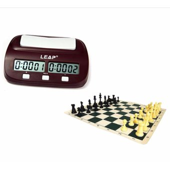 Eureka Chess Set with Leap Digital Chess Timer