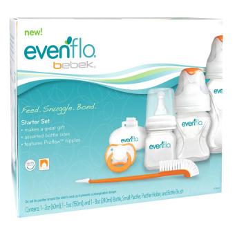 Evenflo Bebek Starter Set (White/Orange) - 2