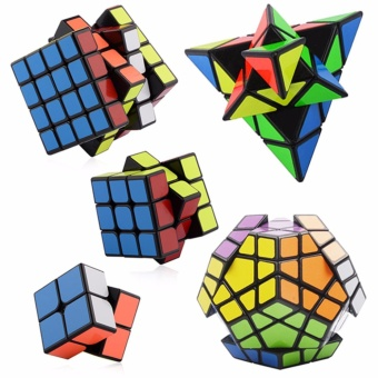 EverSpeed 2x2, 3x3, 4x4, Pyraminx, Megaminx Speed Rubik's CubeBundle Set Black Body - 2