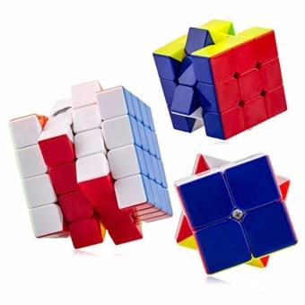 EverSpeed 2x2, 3x3, 4x4 Speed Rubik's Cube Bundle Set RedStickerless - 2