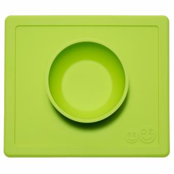 EZPZ Happy Bowl (Lime) Silicone Placemat + Plate