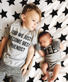 Family Matching Tops Little/Big Brother Romper T-shirt Newborn BabyBoy Clothes - intl
