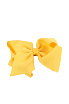 Fancyqube Grosgrain Hair Clip Ribbon Yellow - picture 2