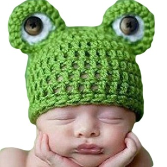 Fancyqube Infant Newborn Handmade Crochet Knitted Cap Frog HatGreen Price Philippines