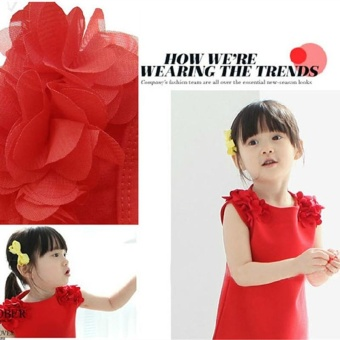 Fashion Girl's Dress Cotton Lovely Summer Dress For 2-7 Years Old Children - Pink - intl - 4