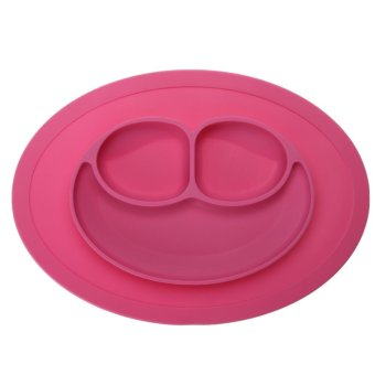 Fashion Silicone Food Plate for Baby(Pink) - intl Price Philippines