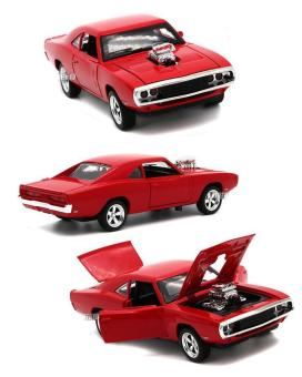 Fast & Furious 7 Dodge Charger Pull Back Toy Cars 1:32 Scale Alloy Diecast Car Model Kids Toys Collection Gift - intl - 2
