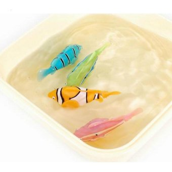 FC 4Pcs Robofish Activated Battery Powered Robo Fish Toy FishRoboticfish Tank Aquarium Ornaments Decorations(Random Color) -intl