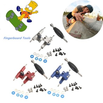 Fingerboard Tools Accessory Wheel Nuts Finger Skate Board Wooden Deck Kids Toys Yellow - intl