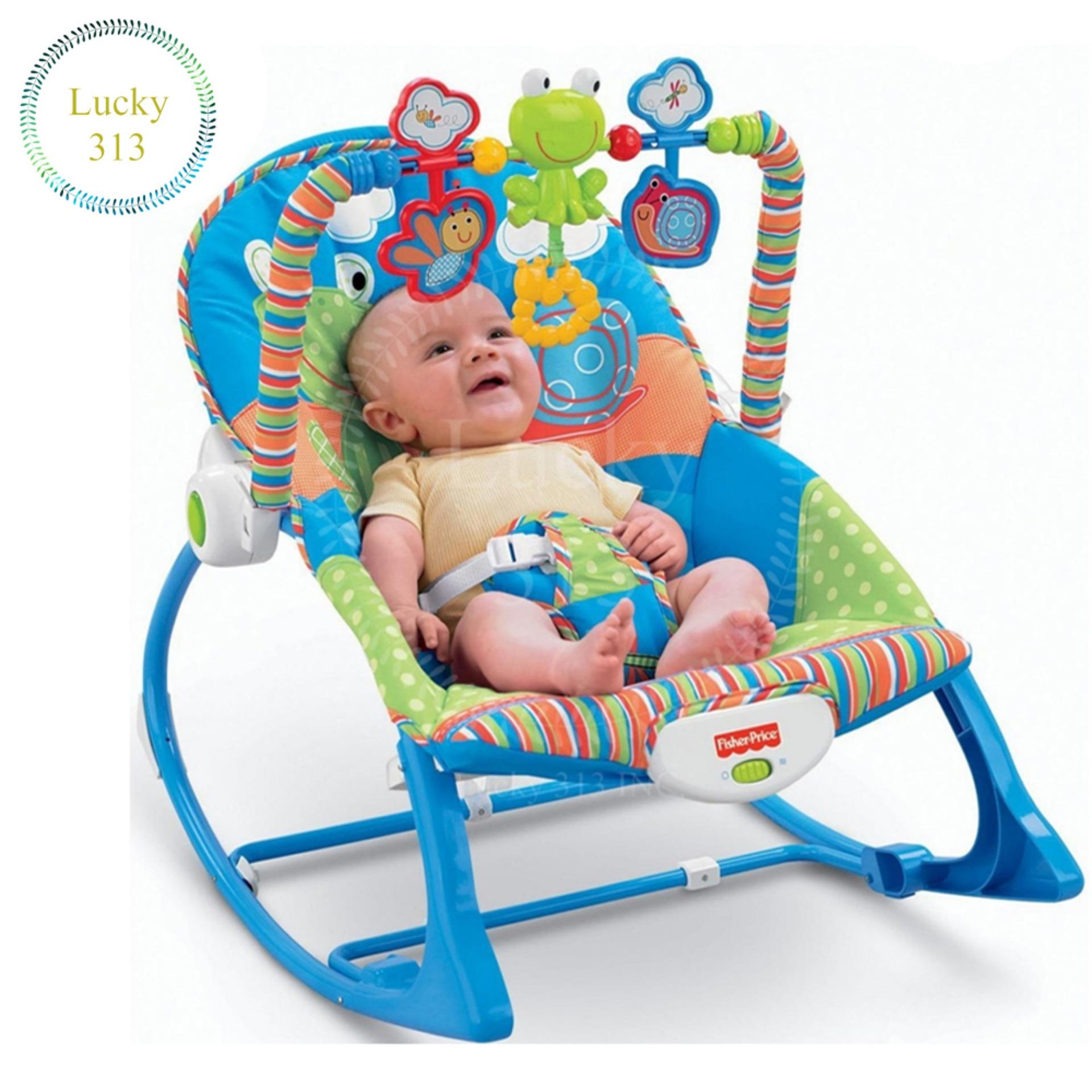 Fisher Price Infant To Toddler Bunny Baby Rocker Blue
