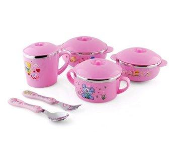 Fisher-Price Infant-to-Toddler Rocker Bunny Free European Childredand Baby Bowl (10 piece set ) Pink - 2