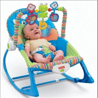 Fisher-Price Portable Baby Rocker For Infants to Toddlers (BLUE)