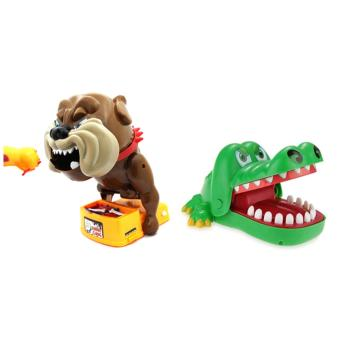 Flake Out Bad Dog Bones Cards Tricky Toy Games With CrocodileDentist Classic Fun Bite Finger Game Kids Toy Biting Hand Game