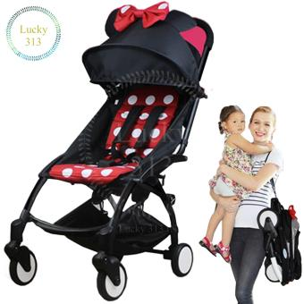 Folding Portable Stroller Baby (Red Black)