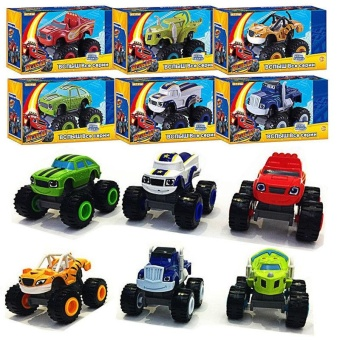 For you Kids Baby Blaze And The Monster Machines Vehicles Diecast Car Toys Good Gifts - intl - 2