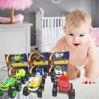 For you Kids Baby Blaze And The Monster Machines Vehicles Diecast Car Toys Good Gifts - intl - 3