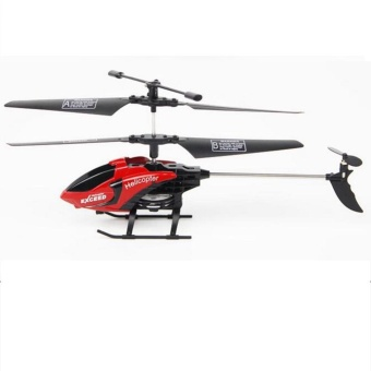 FQ777-610 3.5 Channel Remote Control Helicopter with Gyro and LightAnti-shock RC Toy Helicopter Red - intl