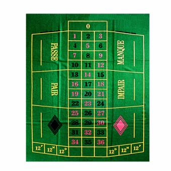 French / European Style Roulette Layout (Ctn # 16) for Poker Mats