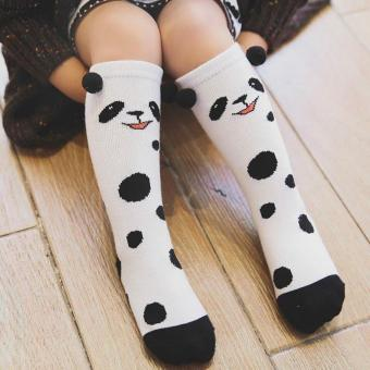 FUN ANIMAL Knee High Socks(Panda Spots) Price Philippines