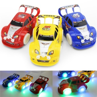 Funny Flashing Music Racing Car Electric Automatic Toy Boy KidBirthday Gift Color Random - intl