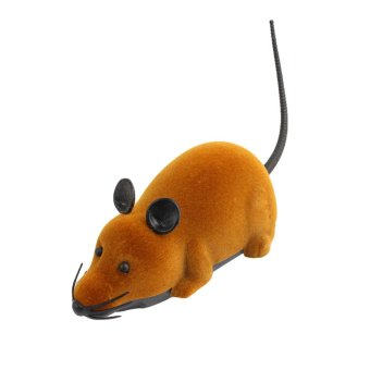 Funny Remote Control RC Wireless 3 Colors Rat Mouse Toy For Novelty Cat Dog (Brown) - picture 2