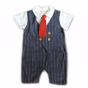 Gentlemen Suit Romper (Blue) For 6 to 9 Months Old