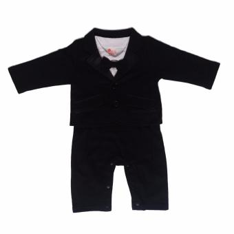 Gentlemen Suit Romper with Coat (Black) For Baby 18 to 24 MonthsOld