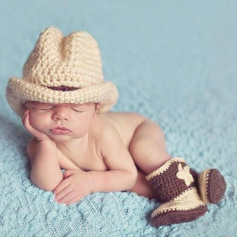 GETEK Newborn Baby Girls Boys Crochet Knit Costume PhotoPhotography Prop Outfits - intl