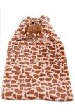 Giraffe Hooded Blanket (Brown) - thumbnail 2