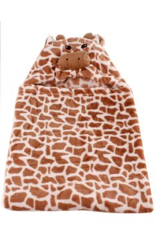 Giraffe Hooded Blanket (Brown)