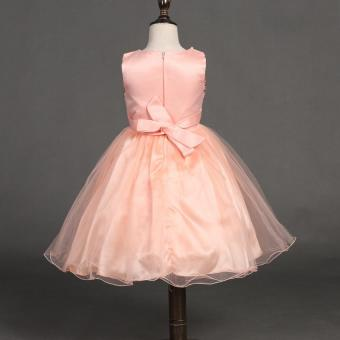 Girls Birthday Dress Cute Sequin Sleeveless Vest Princess LaceDress 10 color Baby Dresses For Girls Vestido - 5