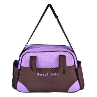 Give Baby Care Sweet Baby Diaper Bag (Purple/Brown)